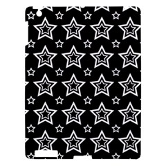 Star Black White Line Space Apple Ipad 3/4 Hardshell Case by Alisyart
