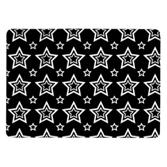 Star Black White Line Space Samsung Galaxy Tab 10 1  P7500 Flip Case