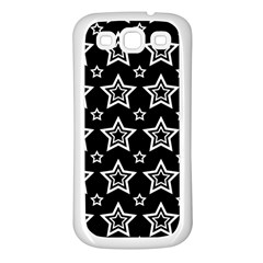Star Black White Line Space Samsung Galaxy S3 Back Case (white)