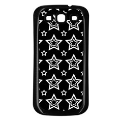 Star Black White Line Space Samsung Galaxy S3 Back Case (black) by Alisyart