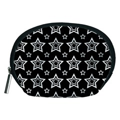 Star Black White Line Space Accessory Pouches (medium)  by Alisyart
