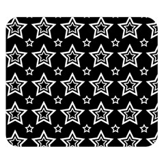 Star Black White Line Space Double Sided Flano Blanket (small)