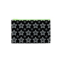 Star Black White Line Space Cosmetic Bag (xs)