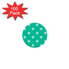 Star Pattern Paper Green 1  Mini Buttons (100 Pack)  by Alisyart