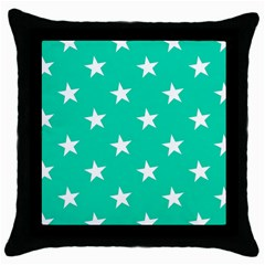 Star Pattern Paper Green Throw Pillow Case (black) by Alisyart