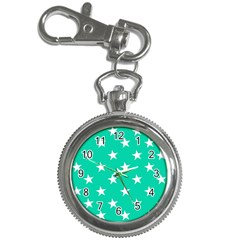 Star Pattern Paper Green Key Chain Watches by Alisyart