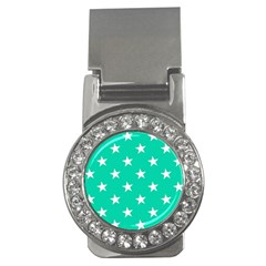 Star Pattern Paper Green Money Clips (cz)