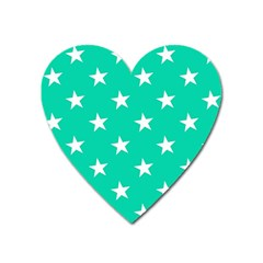 Star Pattern Paper Green Heart Magnet by Alisyart