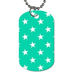 Star Pattern Paper Green Dog Tag (two Sides)