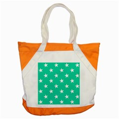 Star Pattern Paper Green Accent Tote Bag by Alisyart