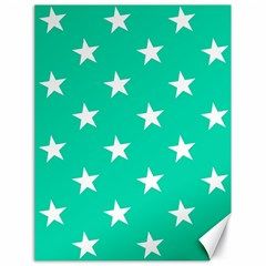 Star Pattern Paper Green Canvas 18  X 24   by Alisyart