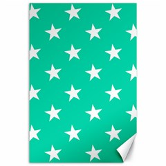Star Pattern Paper Green Canvas 24  X 36  by Alisyart