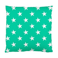 Star Pattern Paper Green Standard Cushion Case (two Sides) by Alisyart