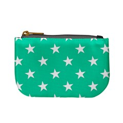 Star Pattern Paper Green Mini Coin Purses by Alisyart