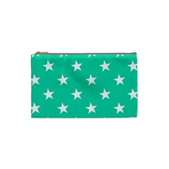 Star Pattern Paper Green Cosmetic Bag (small)  by Alisyart