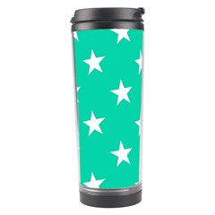 Star Pattern Paper Green Travel Tumbler by Alisyart