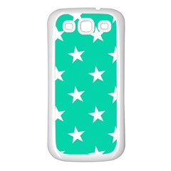 Star Pattern Paper Green Samsung Galaxy S3 Back Case (white) by Alisyart