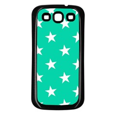 Star Pattern Paper Green Samsung Galaxy S3 Back Case (black)