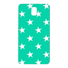 Star Pattern Paper Green Samsung Galaxy Note 3 N9005 Hardshell Back Case by Alisyart