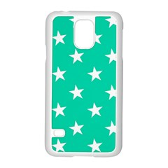 Star Pattern Paper Green Samsung Galaxy S5 Case (white) by Alisyart