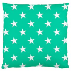 Star Pattern Paper Green Large Flano Cushion Case (two Sides)