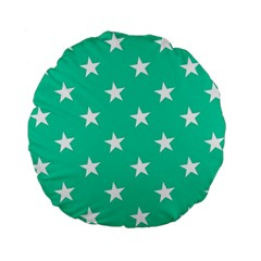 Star Pattern Paper Green Standard 15  Premium Flano Round Cushions by Alisyart