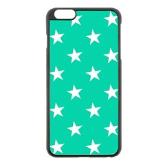 Star Pattern Paper Green Apple Iphone 6 Plus/6s Plus Black Enamel Case by Alisyart