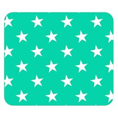 Star Pattern Paper Green Double Sided Flano Blanket (small)  by Alisyart