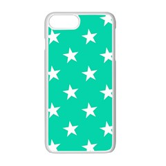 Star Pattern Paper Green Apple Iphone 7 Plus White Seamless Case