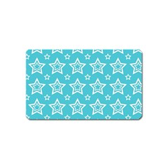 Star Blue White Line Space Sky Magnet (name Card) by Alisyart