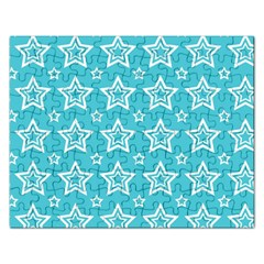 Star Blue White Line Space Sky Rectangular Jigsaw Puzzl