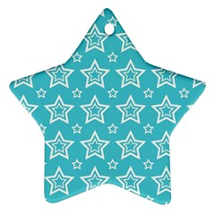 Star Blue White Line Space Sky Star Ornament (two Sides) by Alisyart