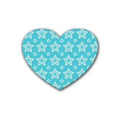 Star Blue White Line Space Sky Heart Coaster (4 Pack)  by Alisyart