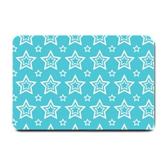 Star Blue White Line Space Sky Small Doormat  by Alisyart