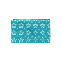 Star Blue White Line Space Sky Cosmetic Bag (small)  by Alisyart