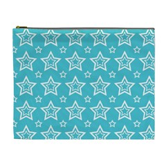 Star Blue White Line Space Sky Cosmetic Bag (xl) by Alisyart