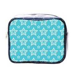 Star Blue White Line Space Sky Mini Toiletries Bags