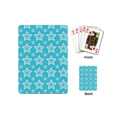 Star Blue White Line Space Sky Playing Cards (mini)  by Alisyart