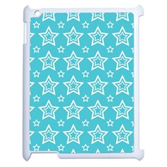 Star Blue White Line Space Sky Apple Ipad 2 Case (white)