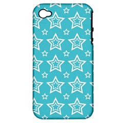Star Blue White Line Space Sky Apple Iphone 4/4s Hardshell Case (pc+silicone) by Alisyart