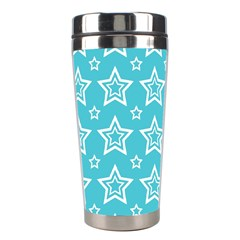 Star Blue White Line Space Sky Stainless Steel Travel Tumblers by Alisyart