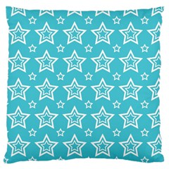 Star Blue White Line Space Sky Large Flano Cushion Case (one Side) by Alisyart