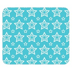 Star Blue White Line Space Sky Double Sided Flano Blanket (small)  by Alisyart