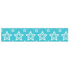 Star Blue White Line Space Sky Flano Scarf (small)
