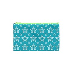 Star Blue White Line Space Sky Cosmetic Bag (xs) by Alisyart