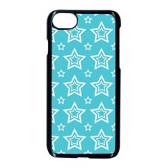 Star Blue White Line Space Sky Apple Iphone 7 Seamless Case (black)