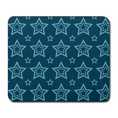 Star Blue White Line Space Large Mousepads by Alisyart