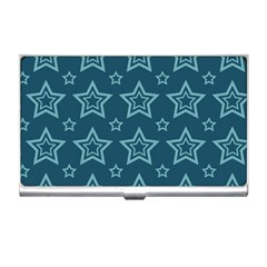 Star Blue White Line Space Business Card Holders