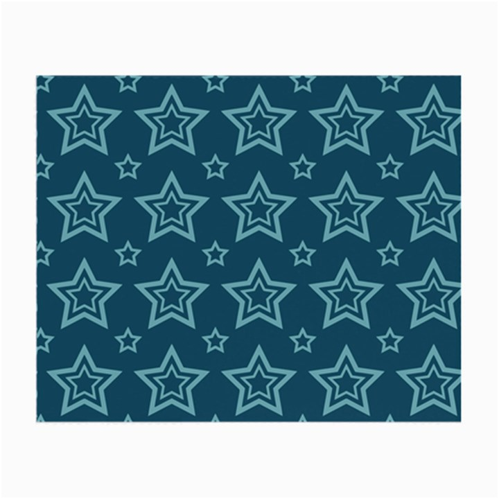 Star Blue White Line Space Small Glasses Cloth (2-Side)