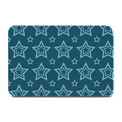 Star Blue White Line Space Plate Mats by Alisyart